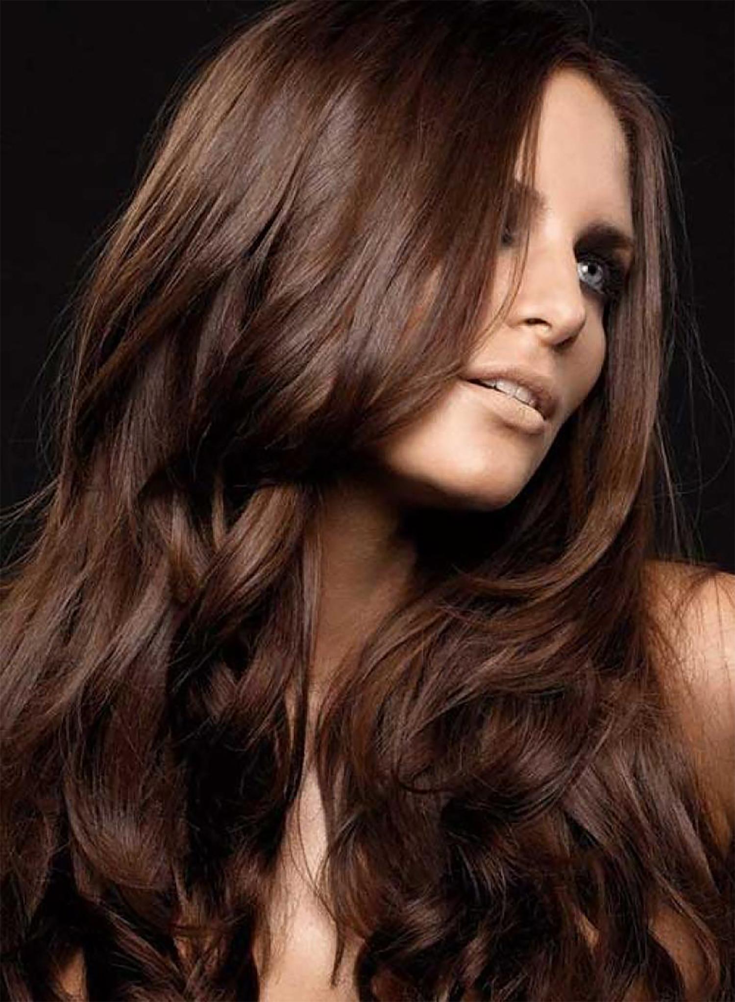 Оттенки светлого шоколадного цвета волос